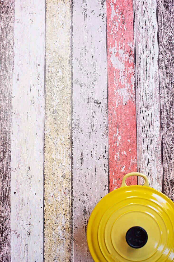 Inspiration for the kitchen: multicolored wooden panels (supervision)