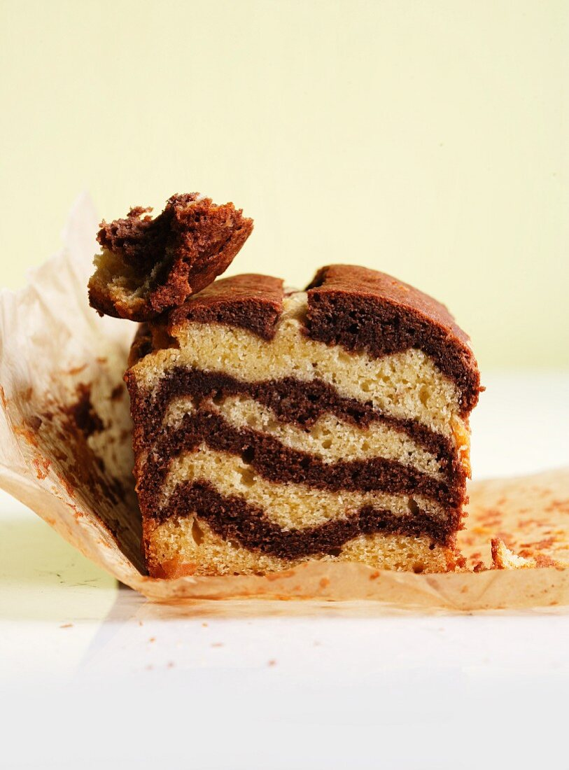 Layer cake doused in ginger syrup