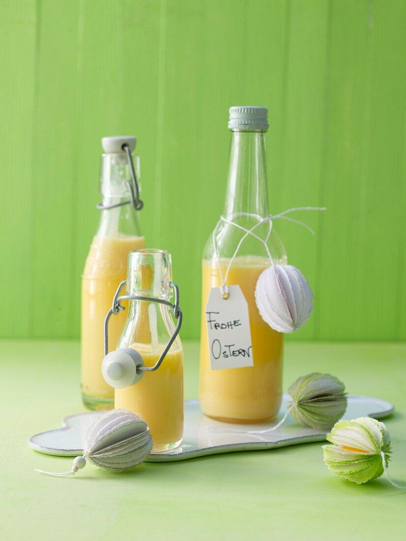 Eggnog with condensed milk
