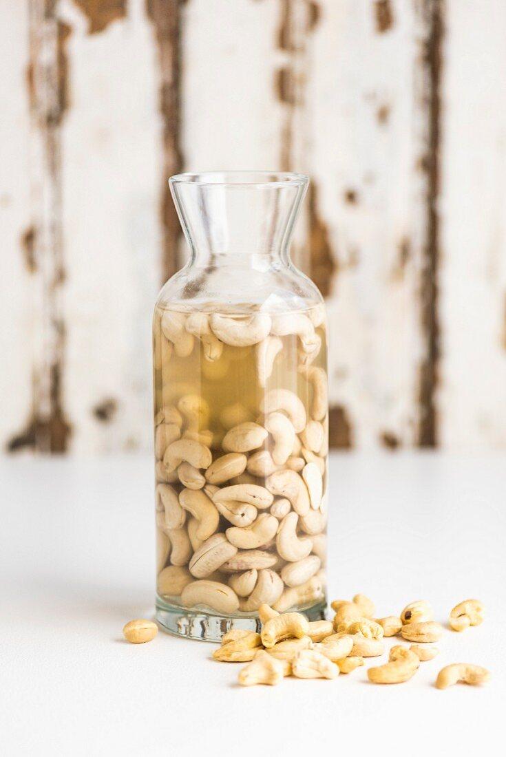 Soften cashew nuts for homemade cashew nuts