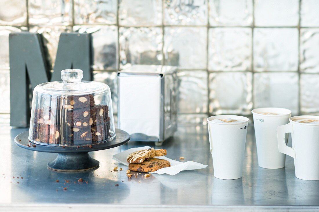 Brownies and cookies in the style of a New York coffee shop