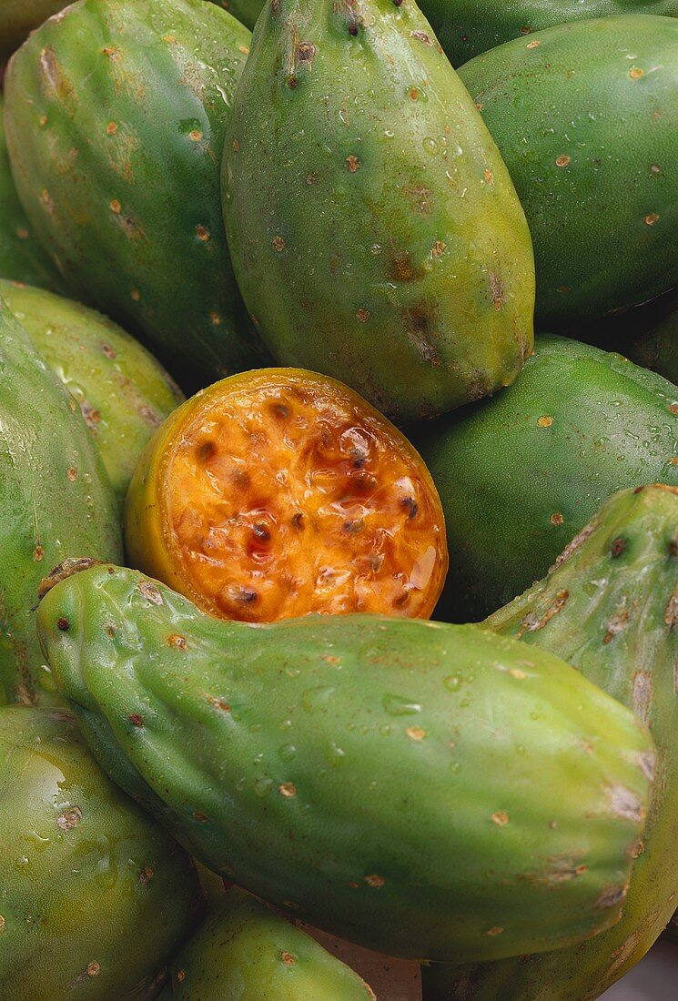a Closeup of Prickly Pears