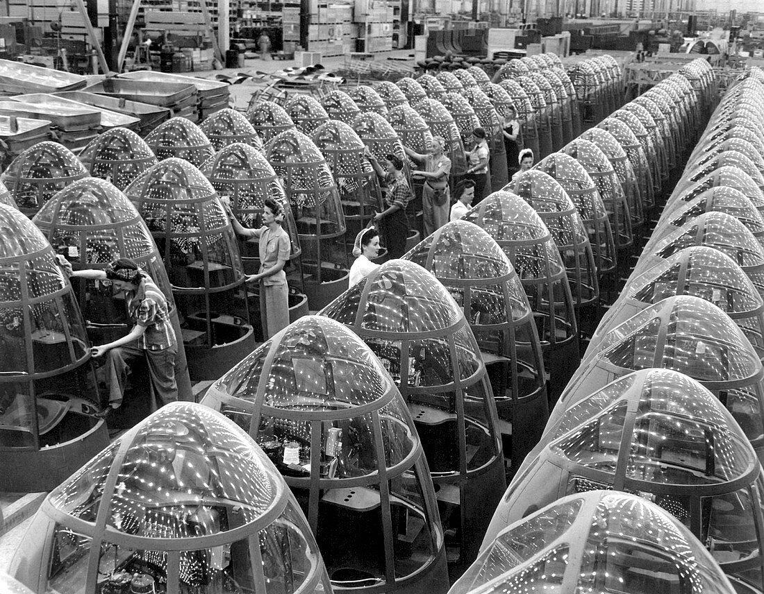 Second World War aeroplane factory