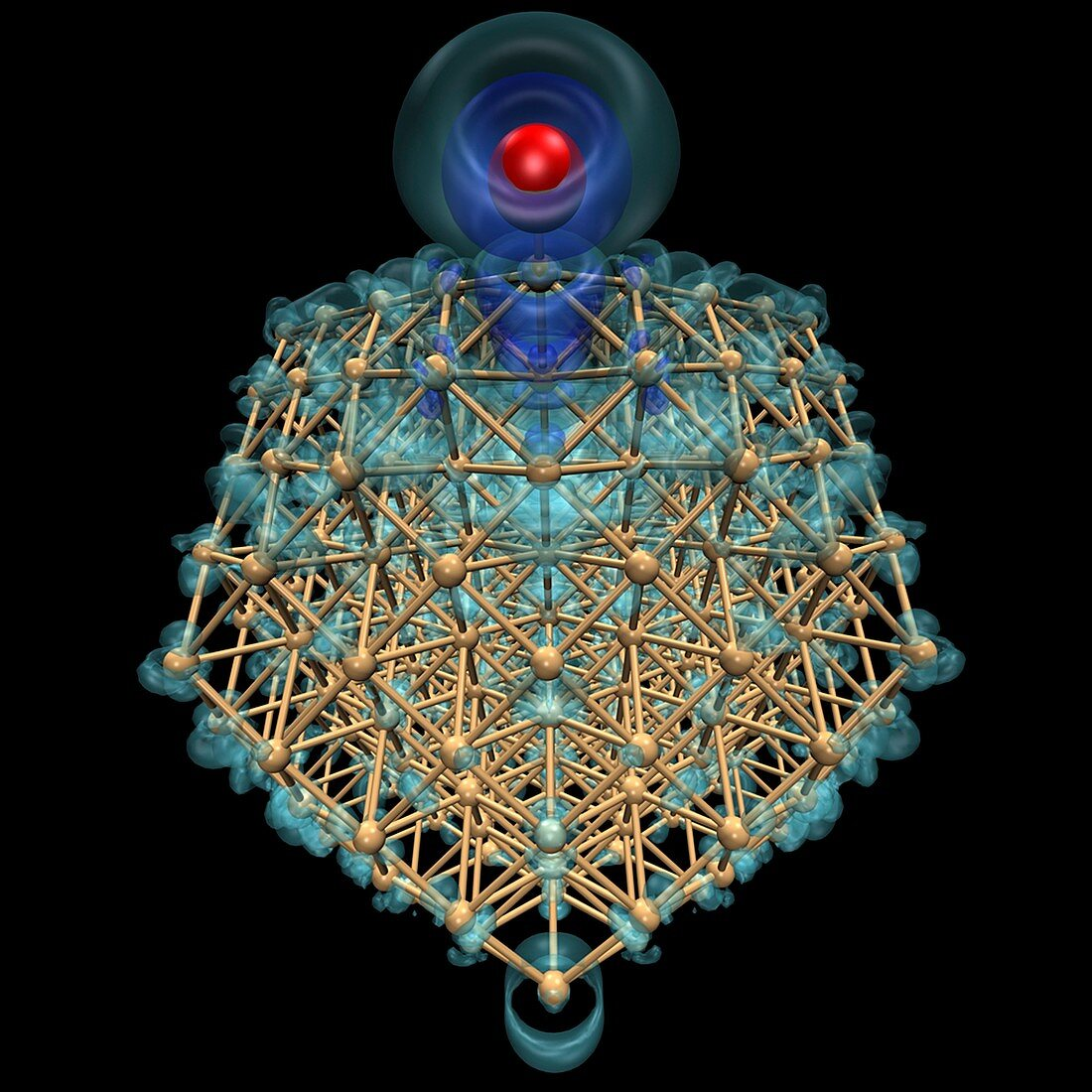 Gold nanoparticle catalyst modelling