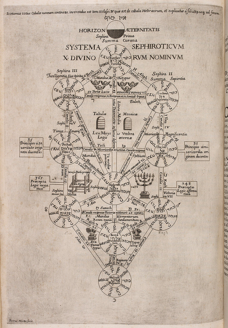 Diagram on page from 'Oedipus Aegyptiacus