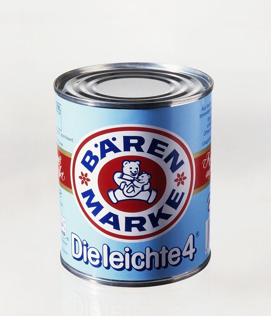 A tin of condensed milk (Bärenmarke brand)