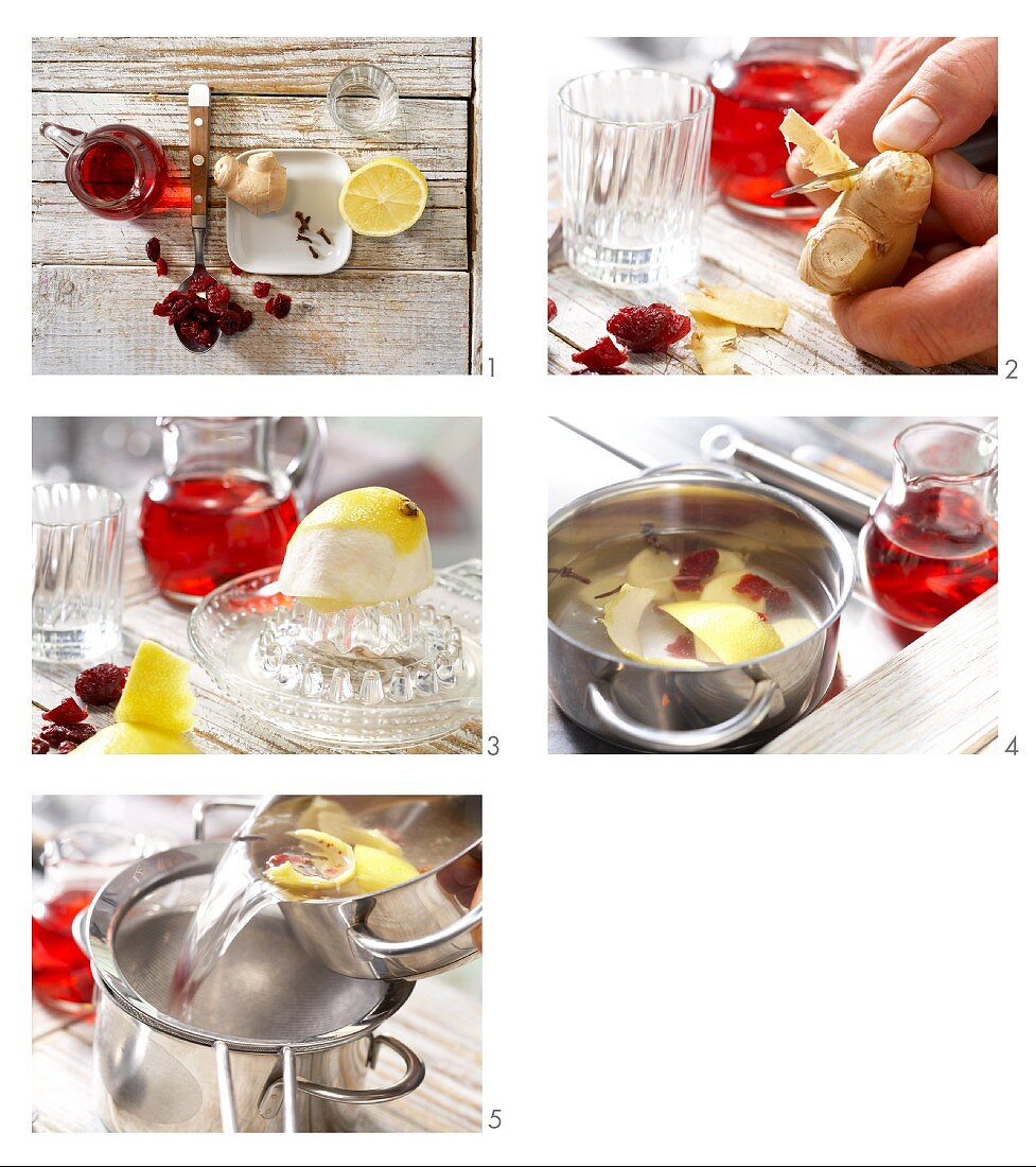 How to prepare spiced cranberry punch with cloves and ginger