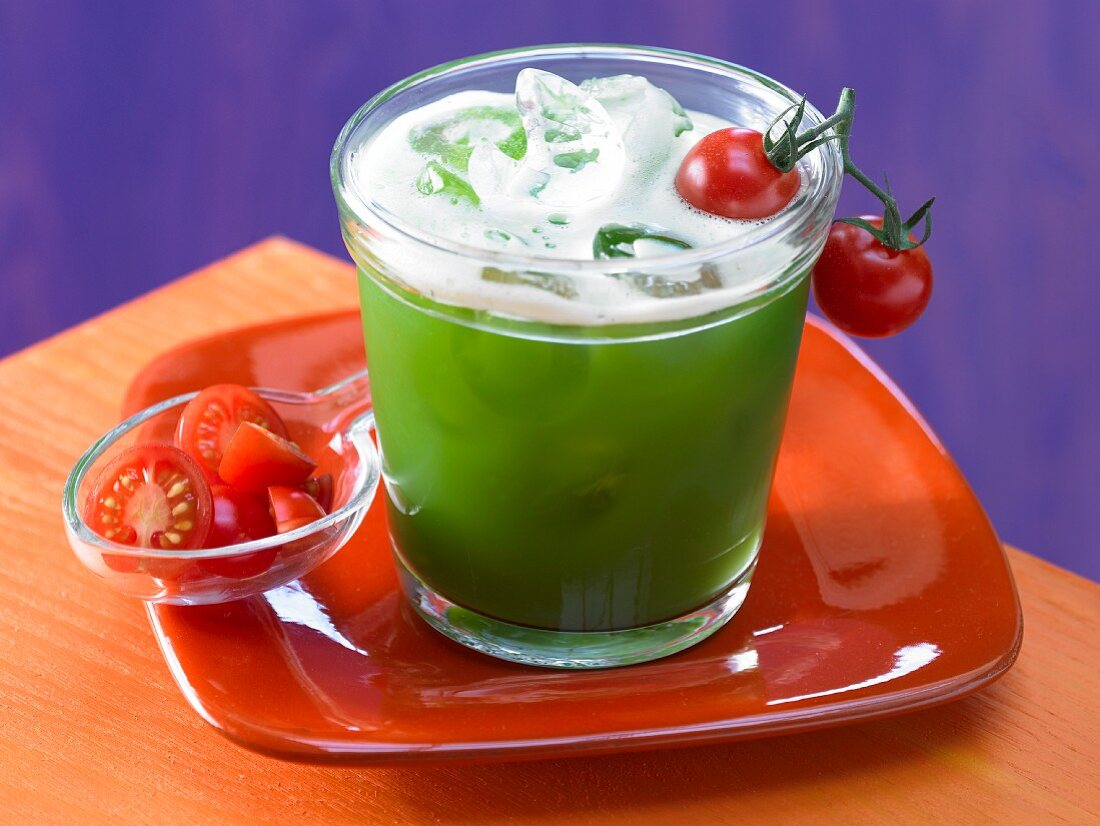 A vegetable cocktail with Tabasco sauce