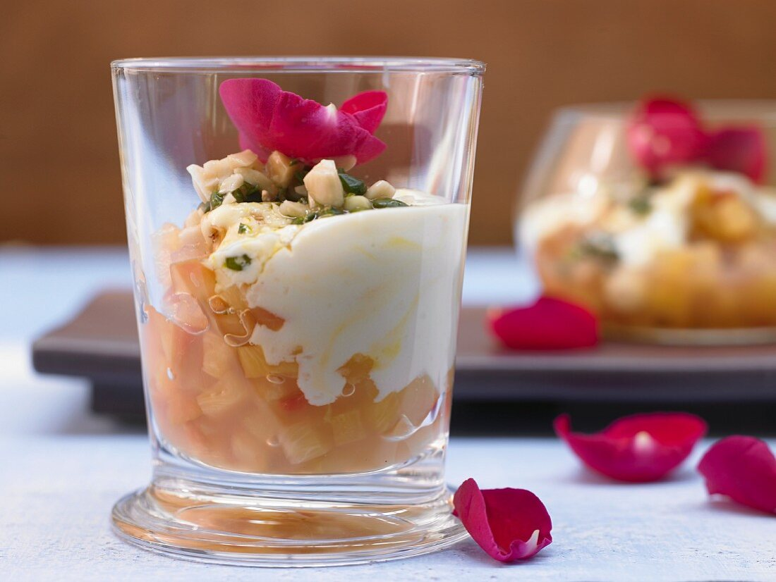 Arabian pineapple compote with rosewater