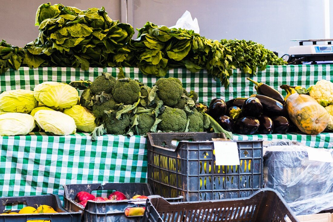 Vegetables at a market stand (Beirut, Lebanon)