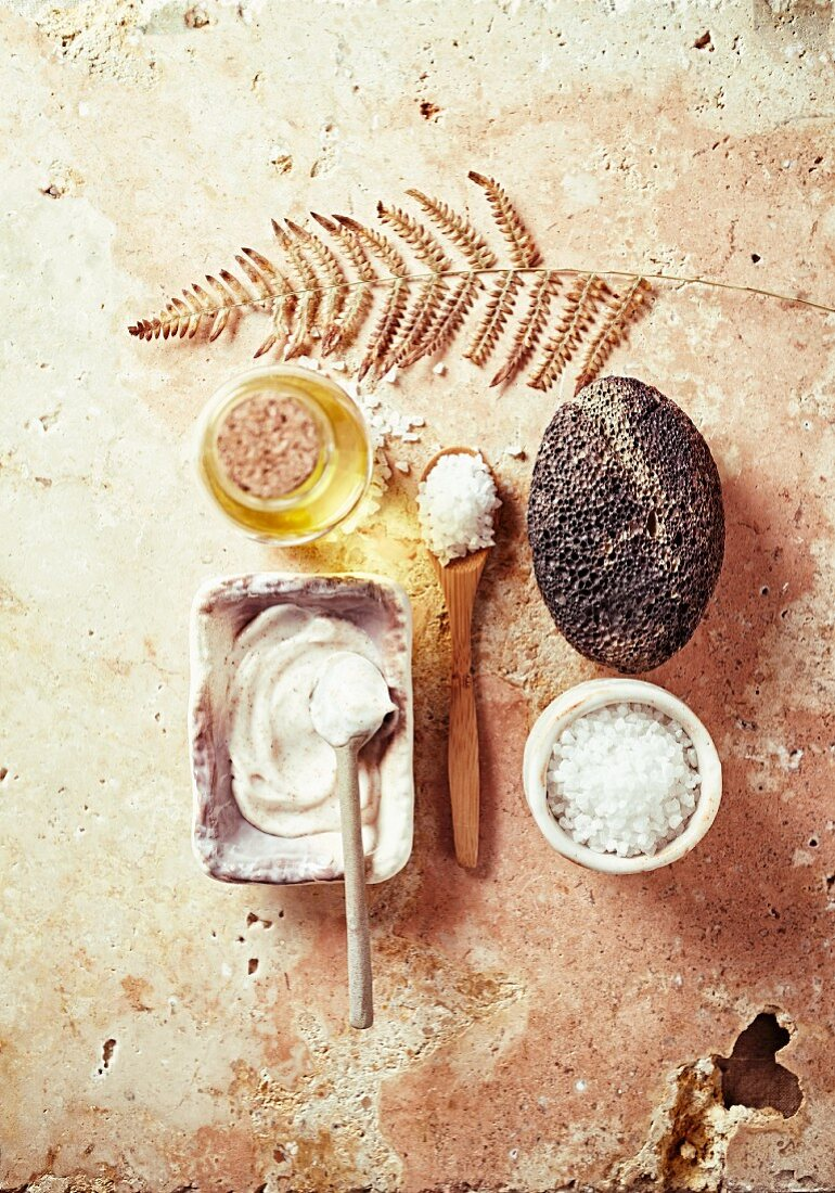 Assorted natural and organic body-care products