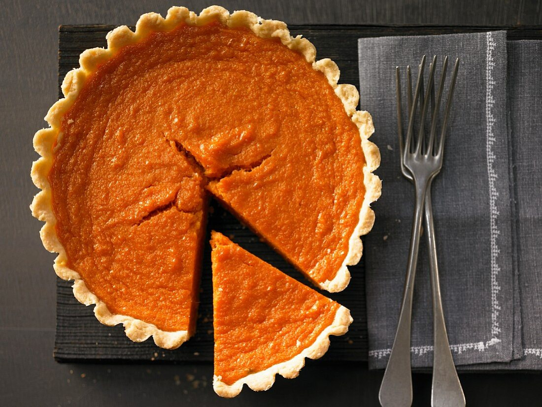 Sweet potato pie with maple syrup