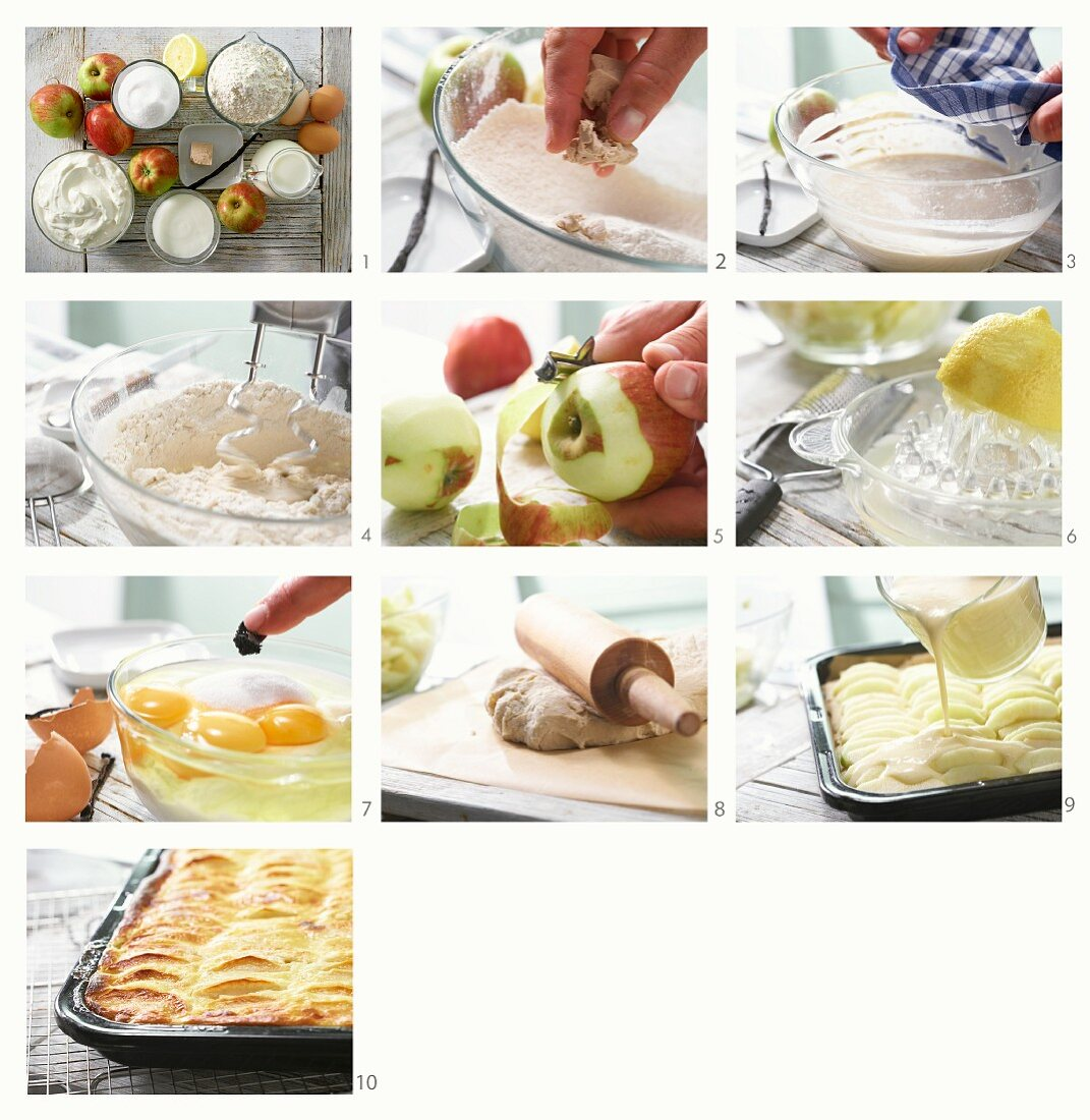 How to prepare an apple cake with sour cream