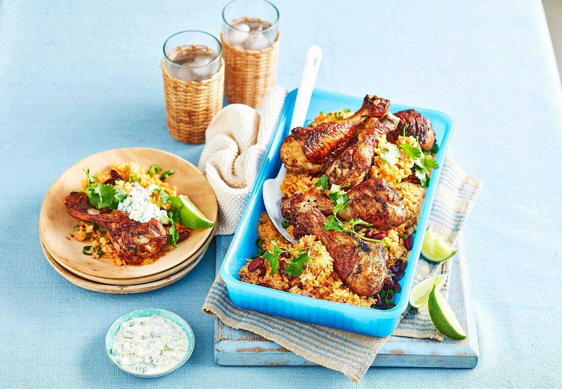 Cajun Chicken with Coconut Rice