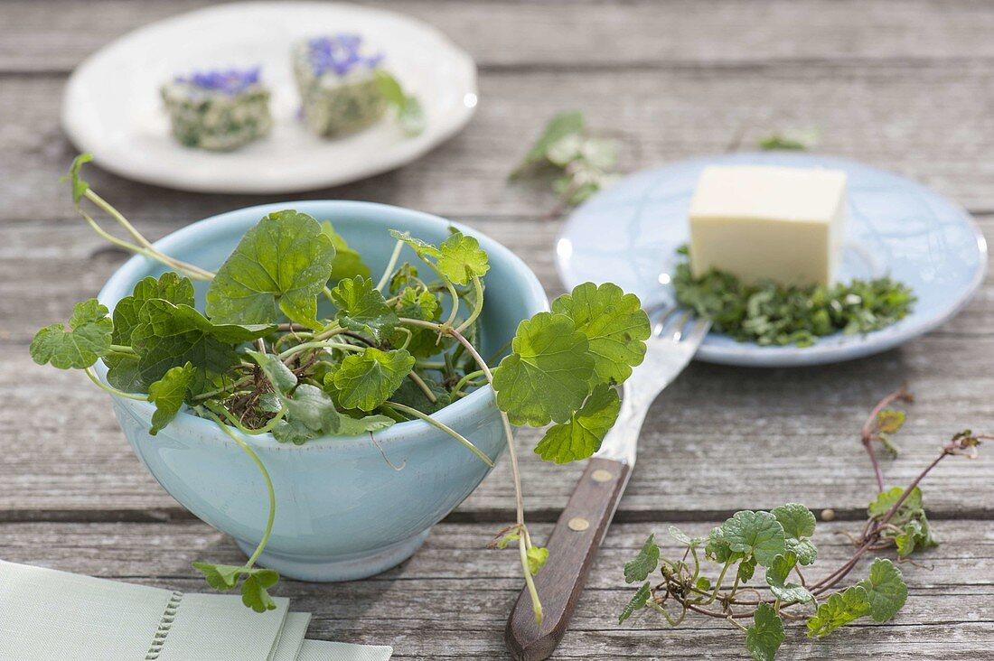 Wild kitchen herbs
