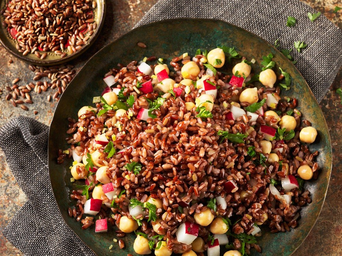 Red red with chickpeas