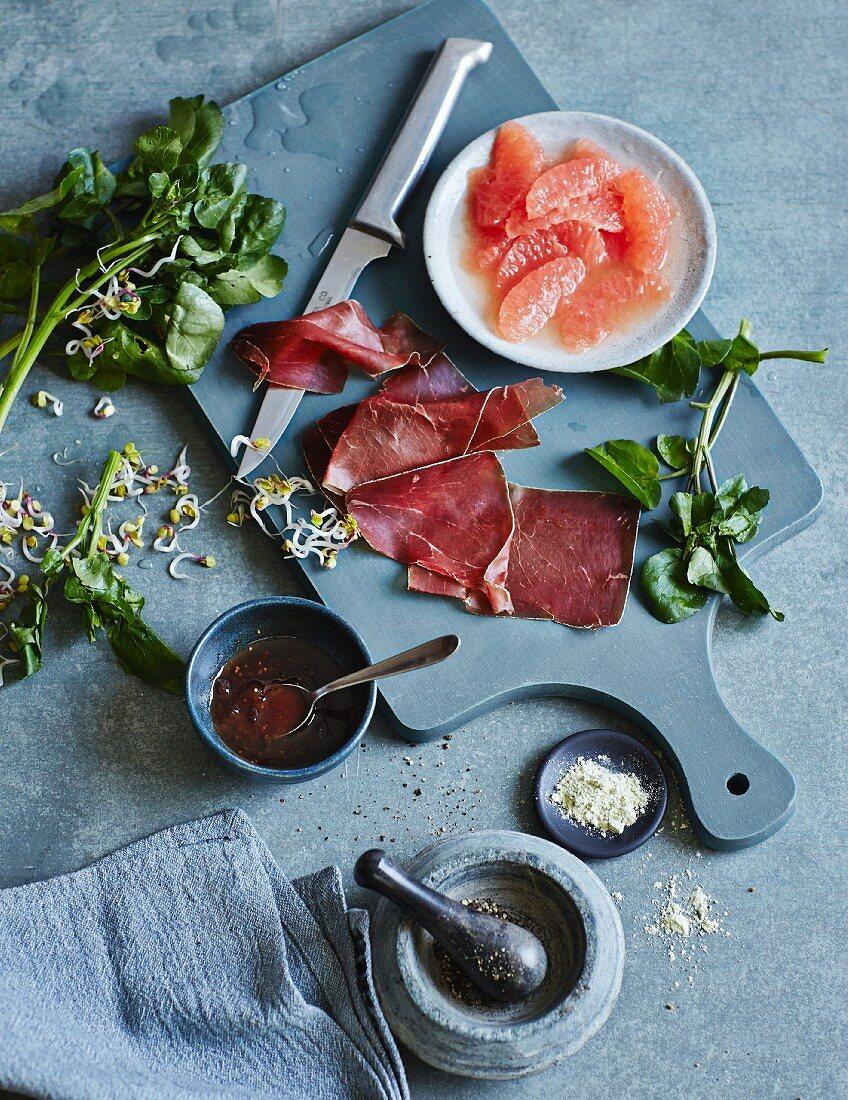 Zutaten für Vorspeisen und Salate in der Low Carb Küche
