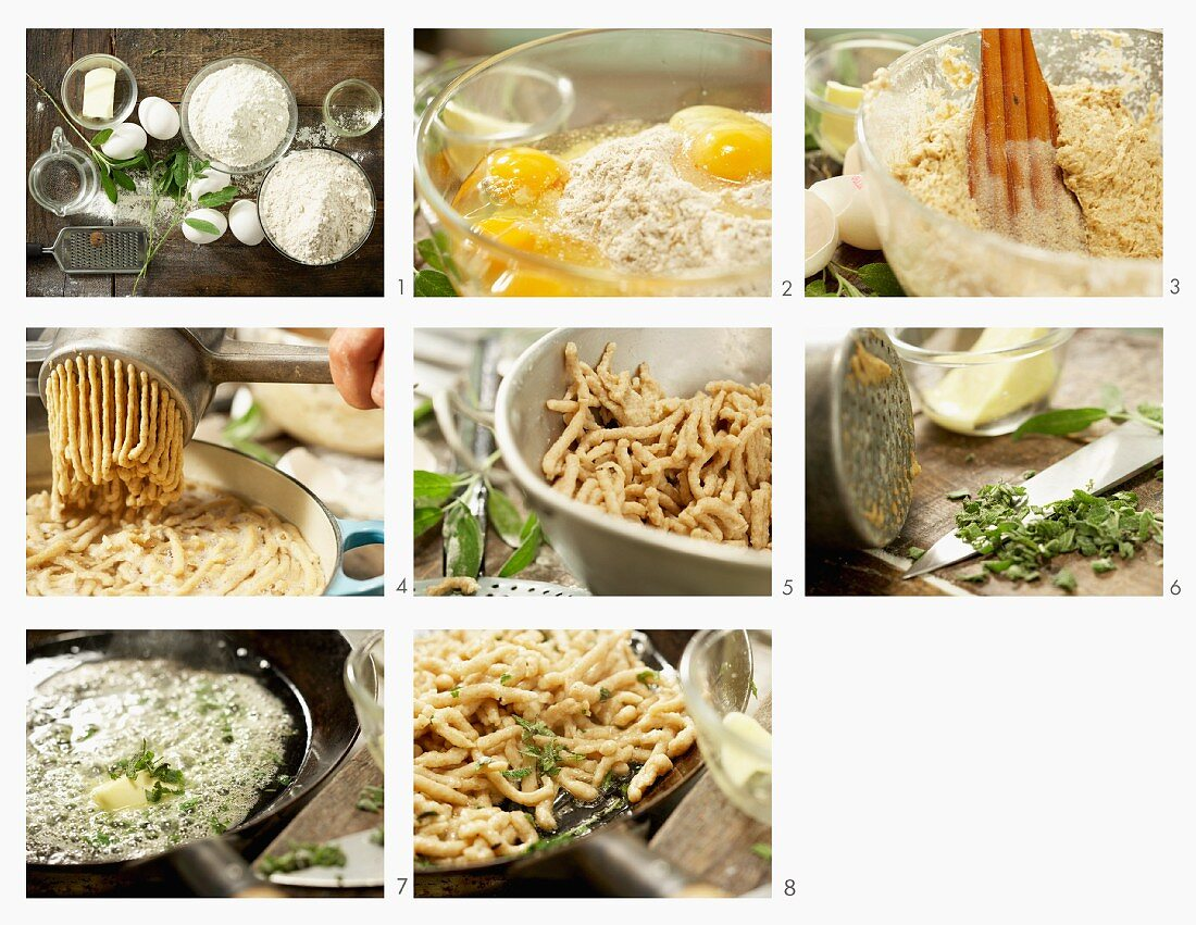 How to make wholewheat noodles in sage butter