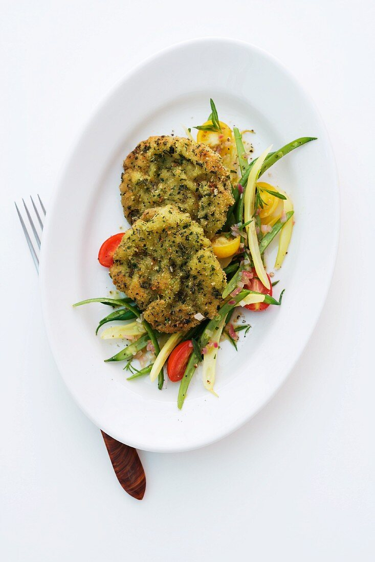 Lamb fritters with herbs