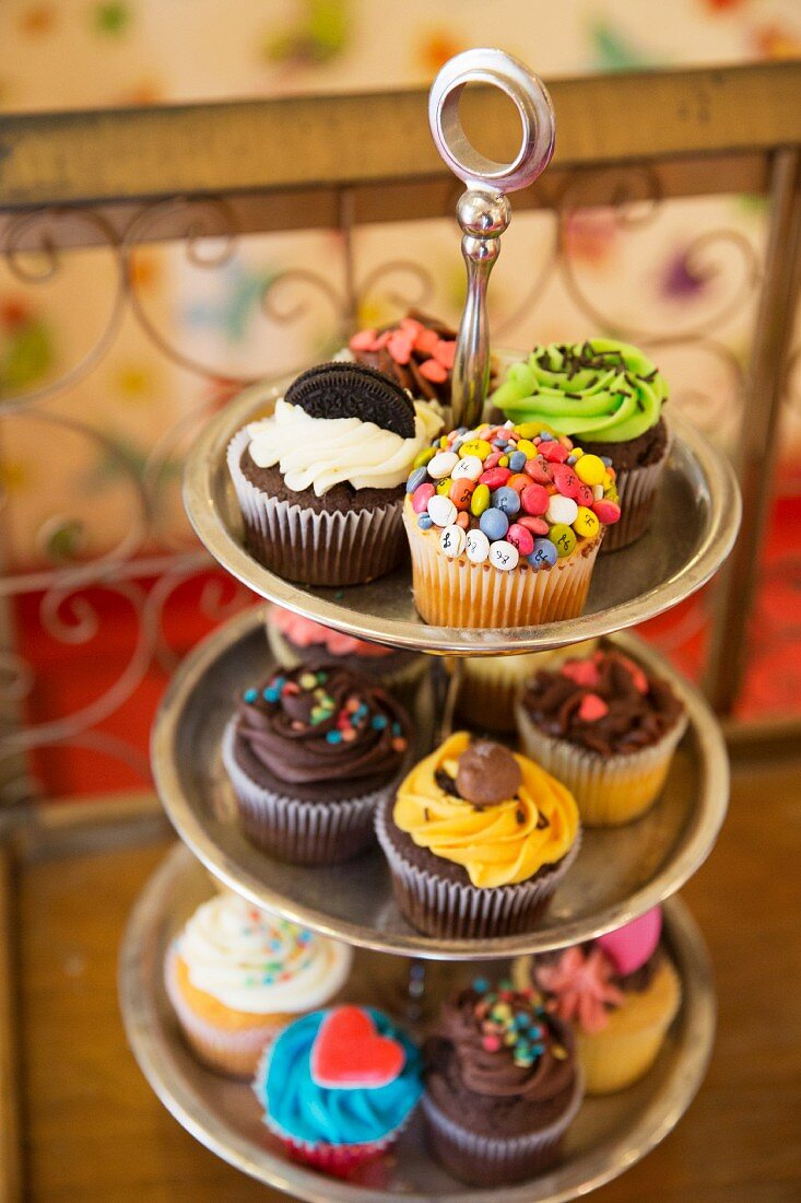 Cupcakes from the Happy Day Bakery in the trendy Malasana neighbourhood of Madrid (Spain)