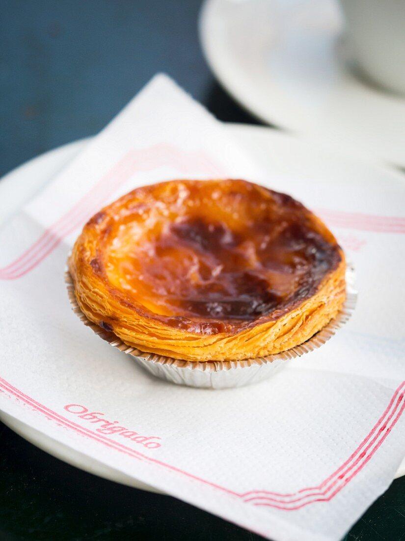 Pastel de nata, traditional Portuguese tart pastry