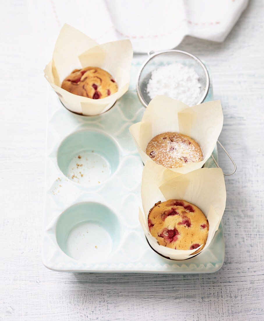 Lactose-free redcurrant muffins