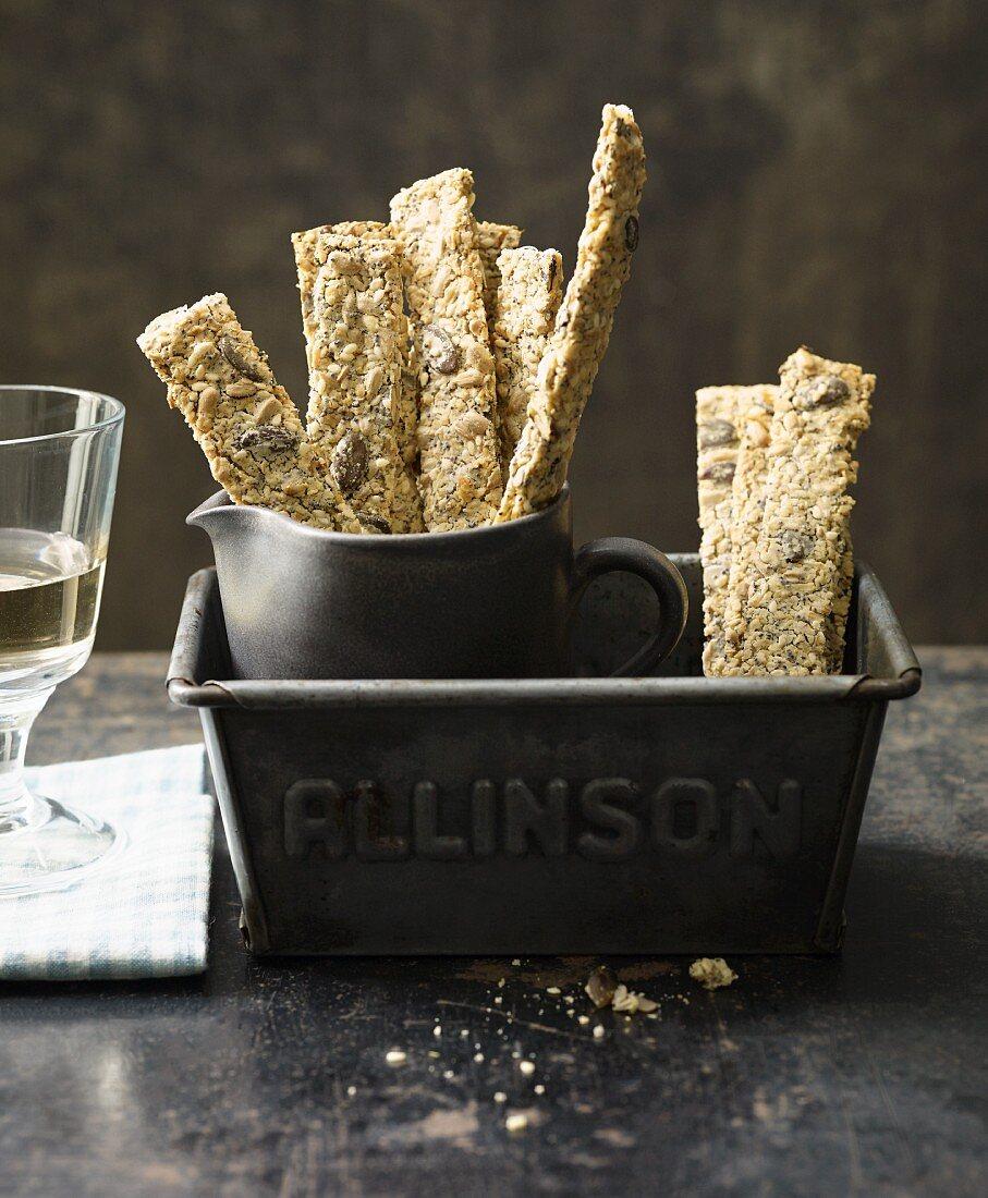 Lactose-free grain sticks