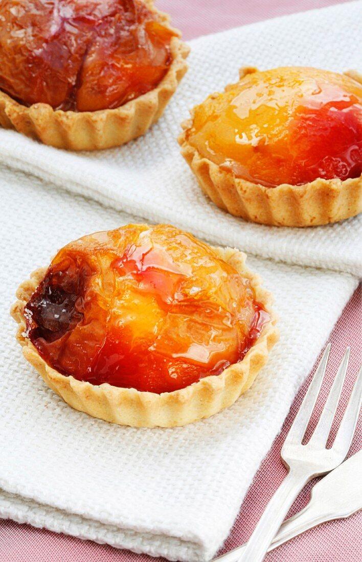 Individual nectarine tarts