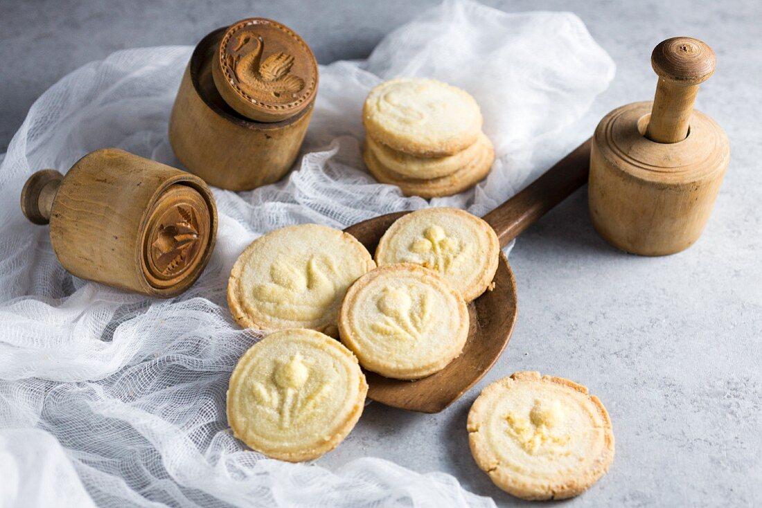 Shortbread Biscuits mit Holzmodeln