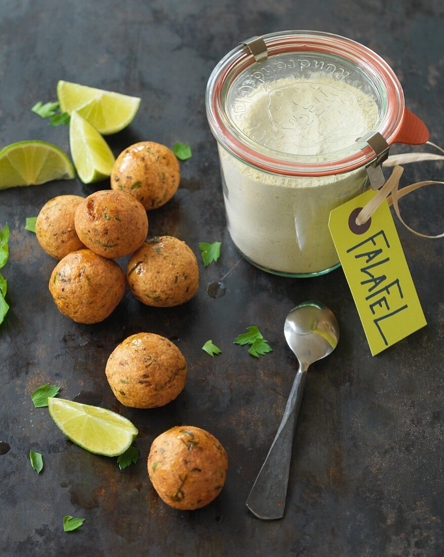 Falafel mix made of yellow peas