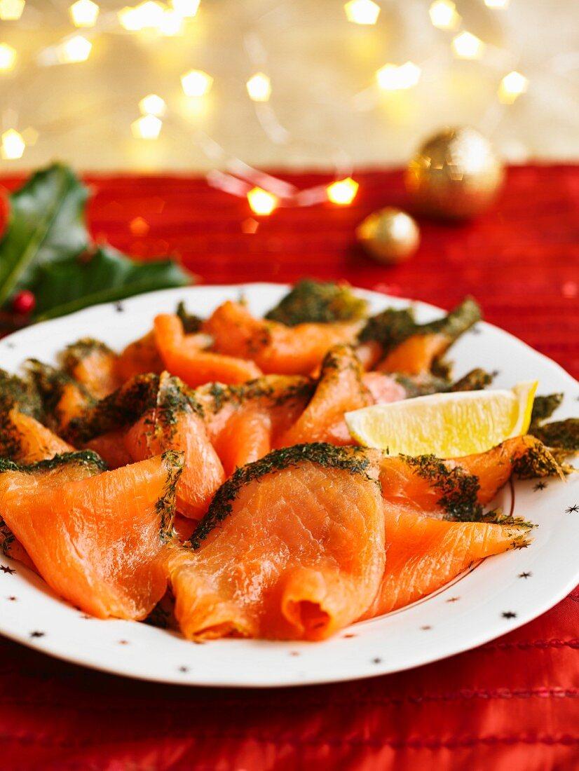 Christmas Tree Smoked Salmon