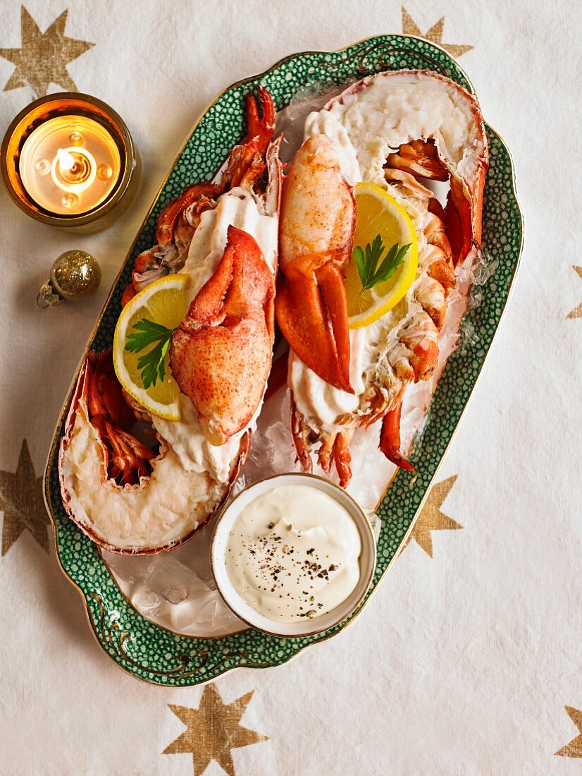 Lobster with mayonnaise for Christmas