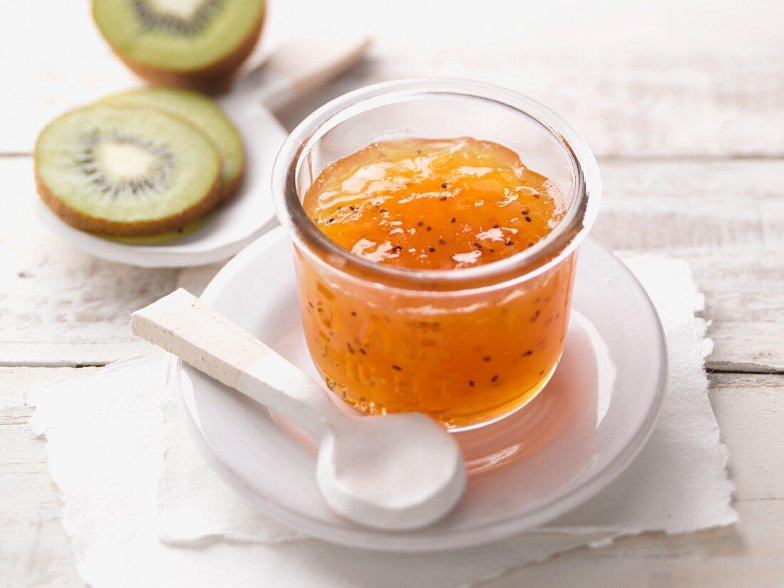 Kiwi and citrus jam