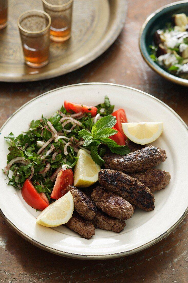 Türkisches Köfte Kebab (Adana Kebap)