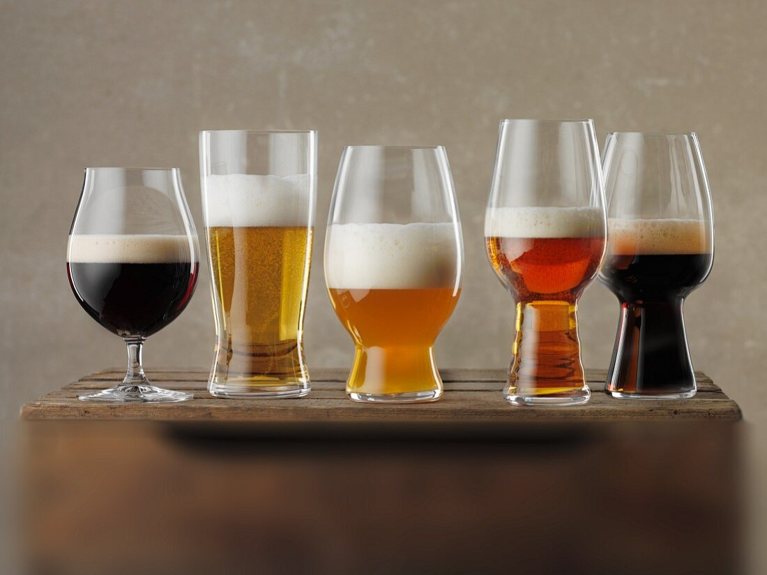 Various glasses of beer