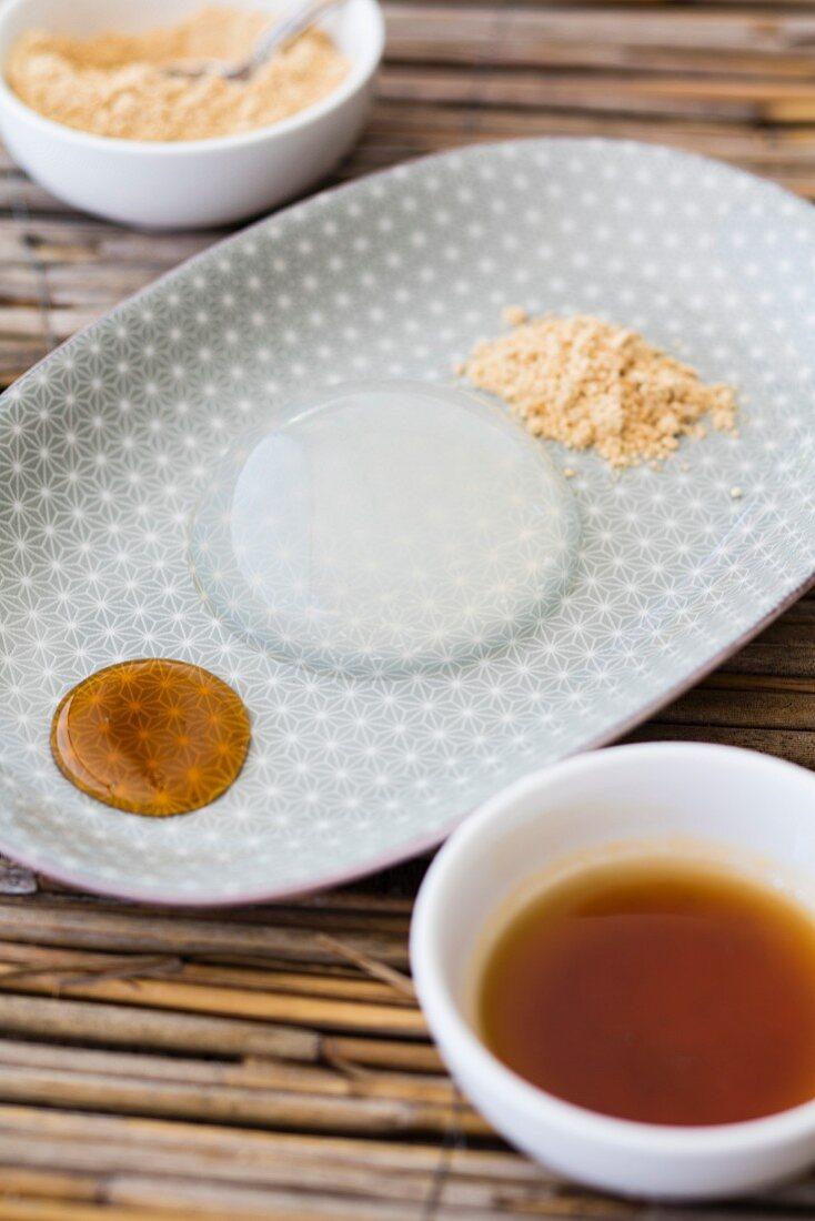 Mizu Shingen Mochi (raindrop cake from Japan)