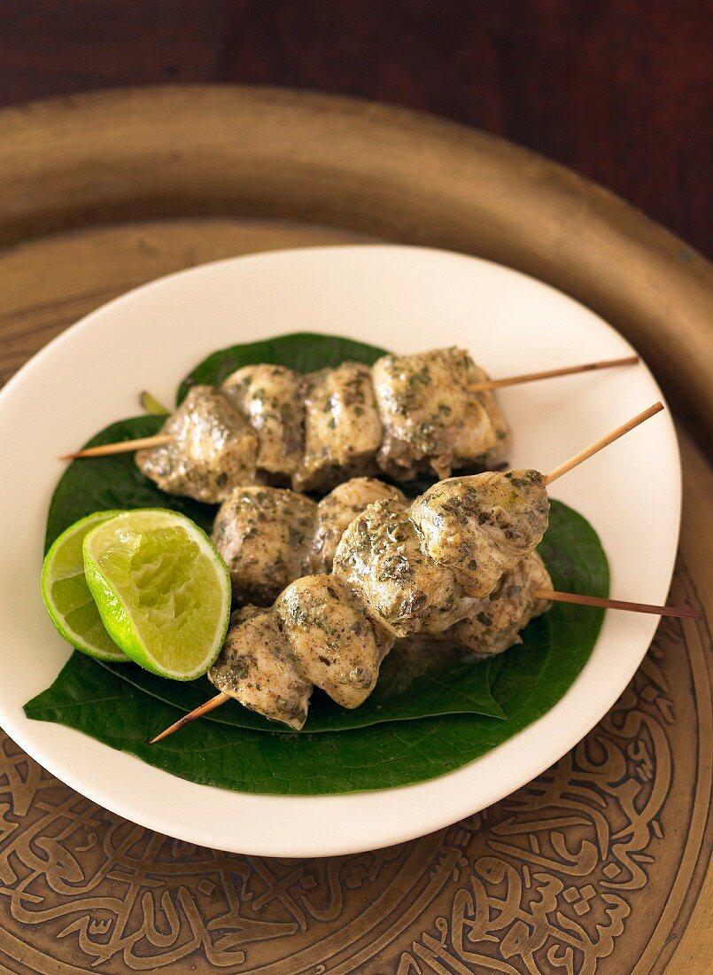Indian Chicken Tikka Skewers