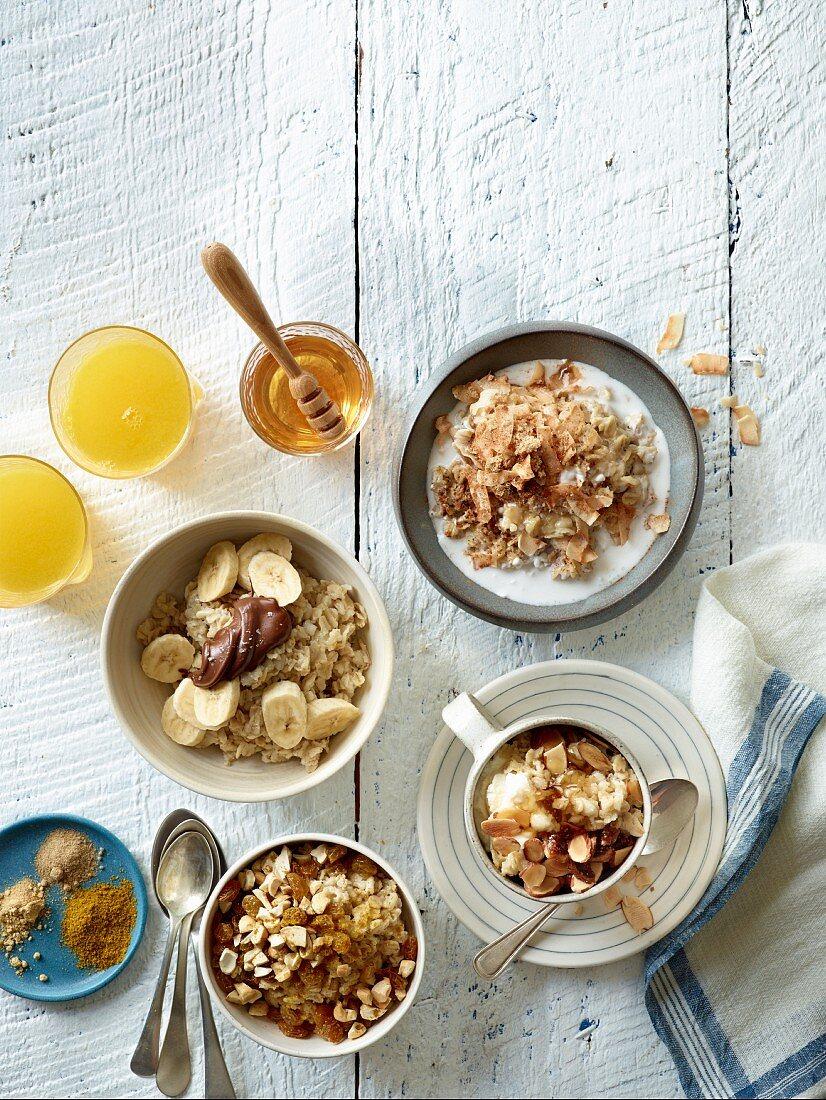 Various types of porridge