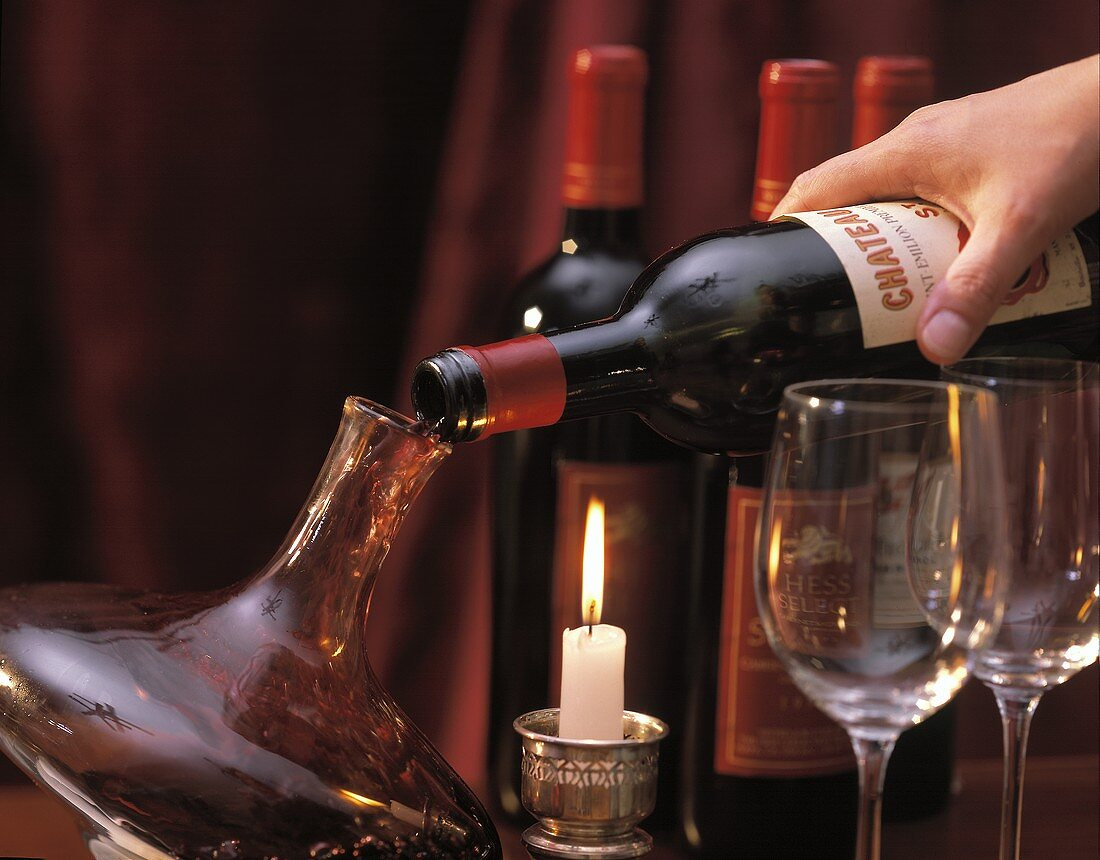 Decanting Red Wine Hand