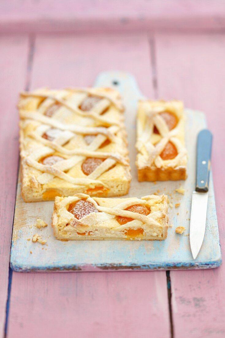 Apricot and quark tart