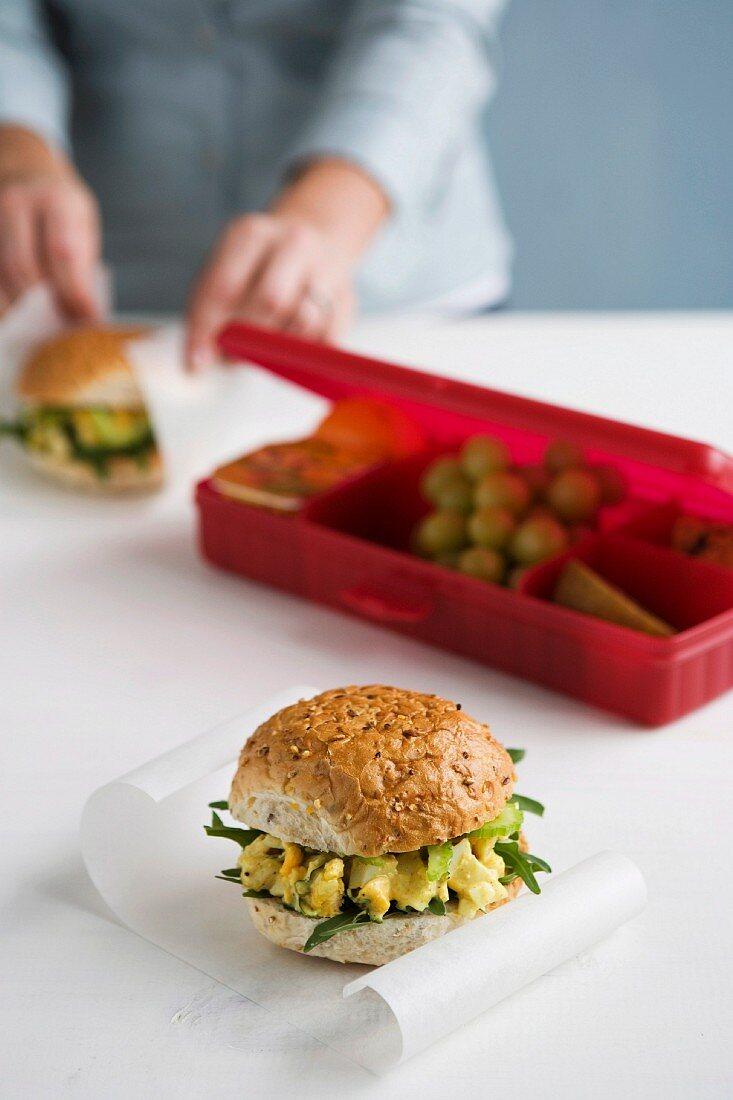 Egg Salad Rolls for Lunch