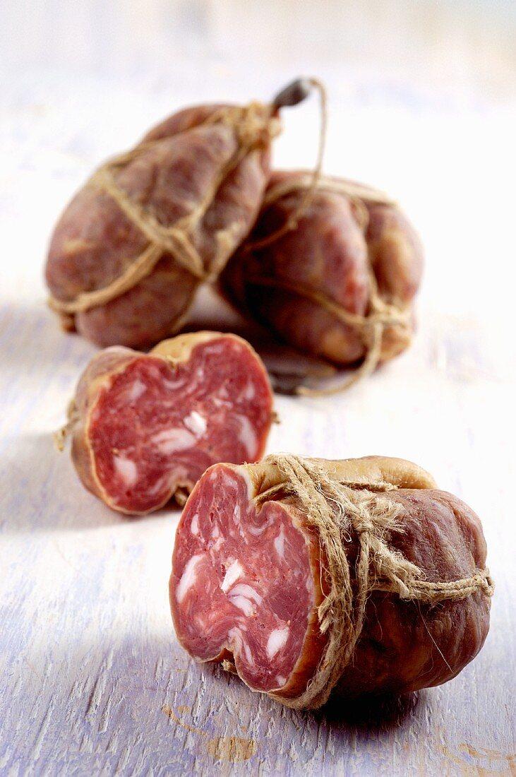 Salame di Mugnano (salami from the Campanien, Italy)