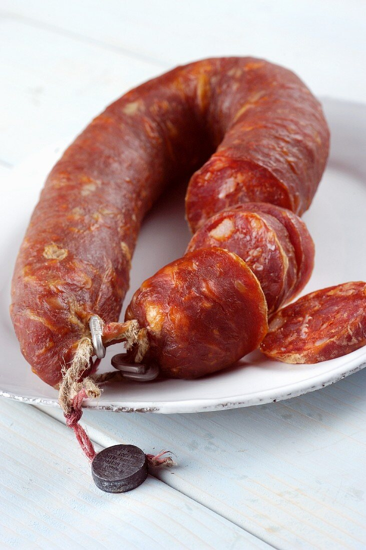 Salsiccia pugliese (sspicy sausage from Apulia, Italy)