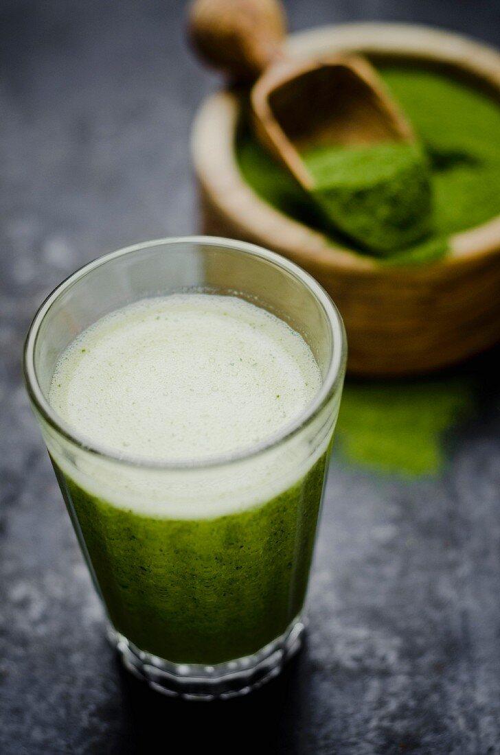 Moringa smoothie with orange and lemon juice