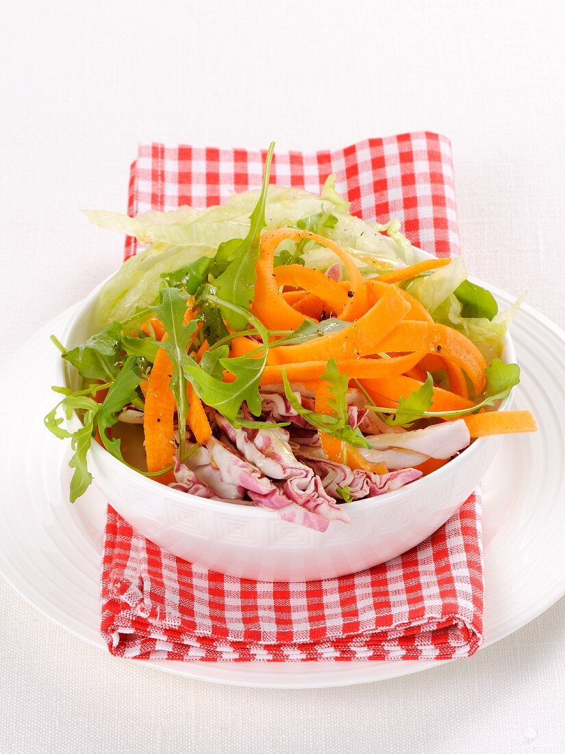 A crunchy vegetable salad