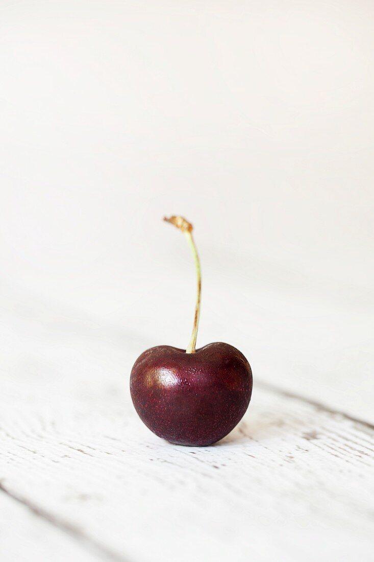 A fresh cherry