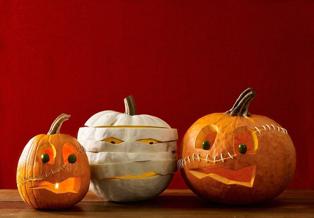 Kürbis-Monster für Halloween