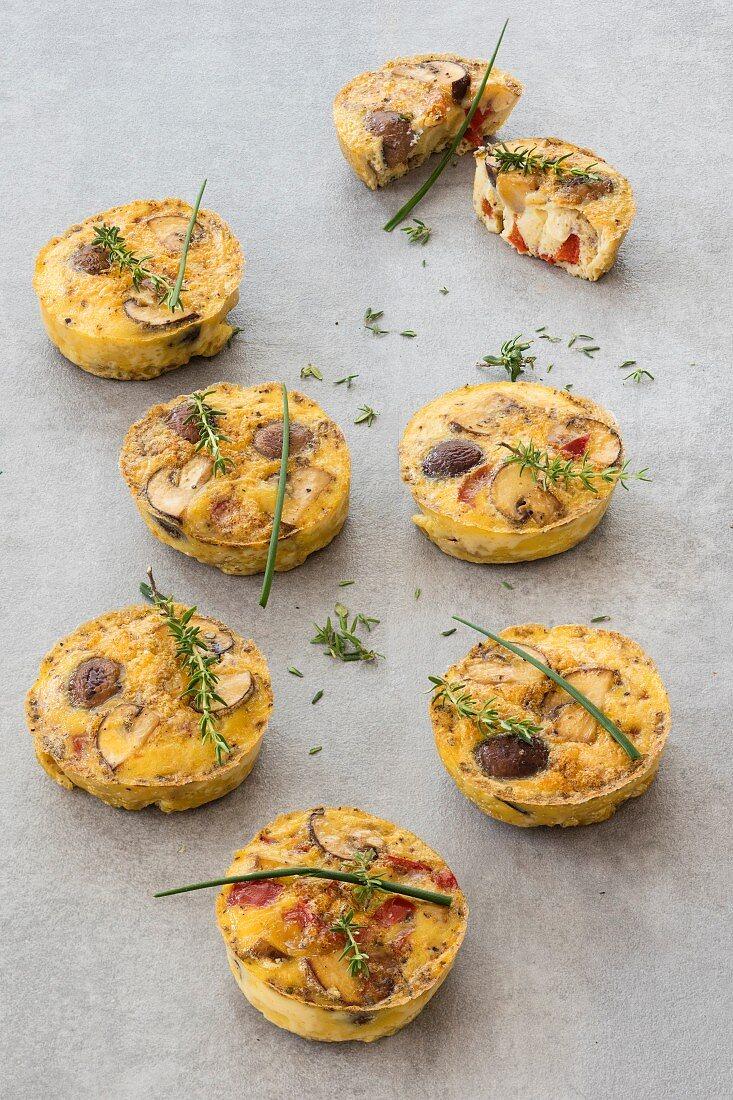 Mini-Frittatas mit Pilzen