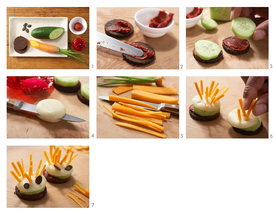 Cheese Hedgehogs With Carrot Stick License Images 11983581 Stockfood