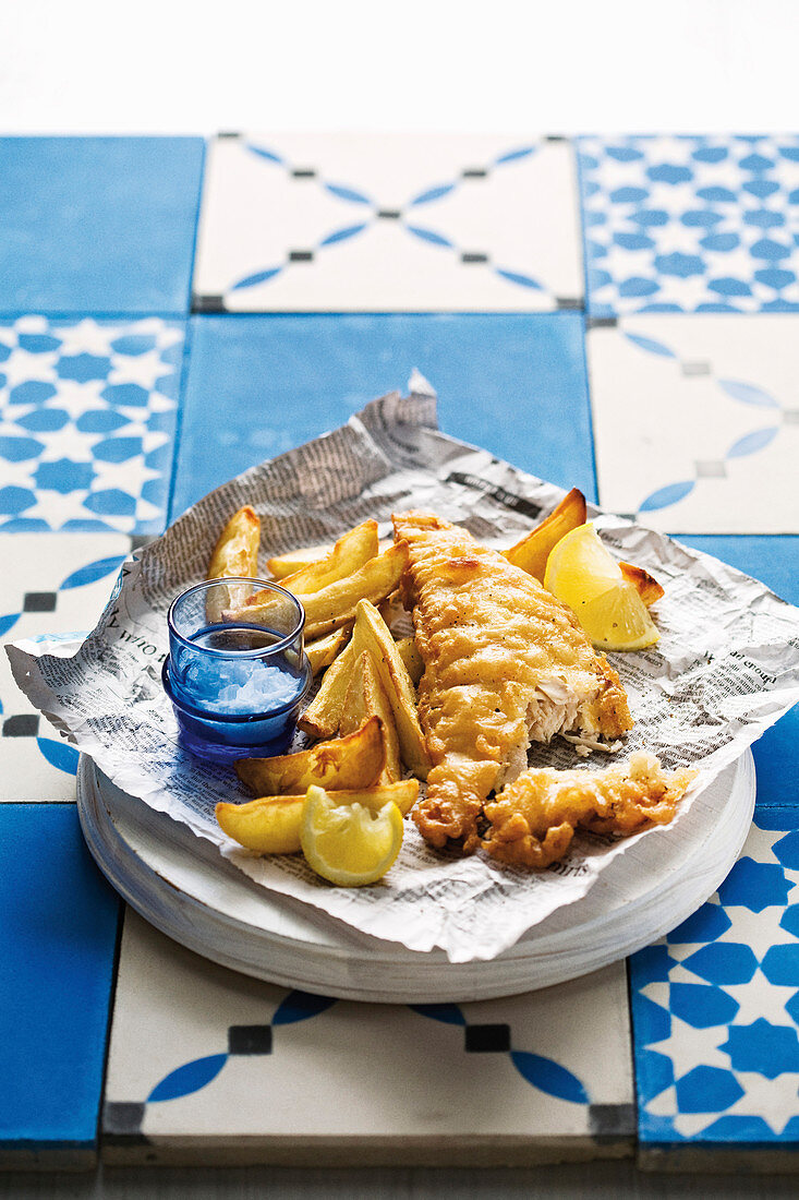 Extra crispy fish and chips